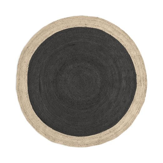 Spo Bordered Round Jute Rug 6 Horizon
