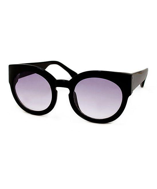 Black & Purple Sophia Sunglasses