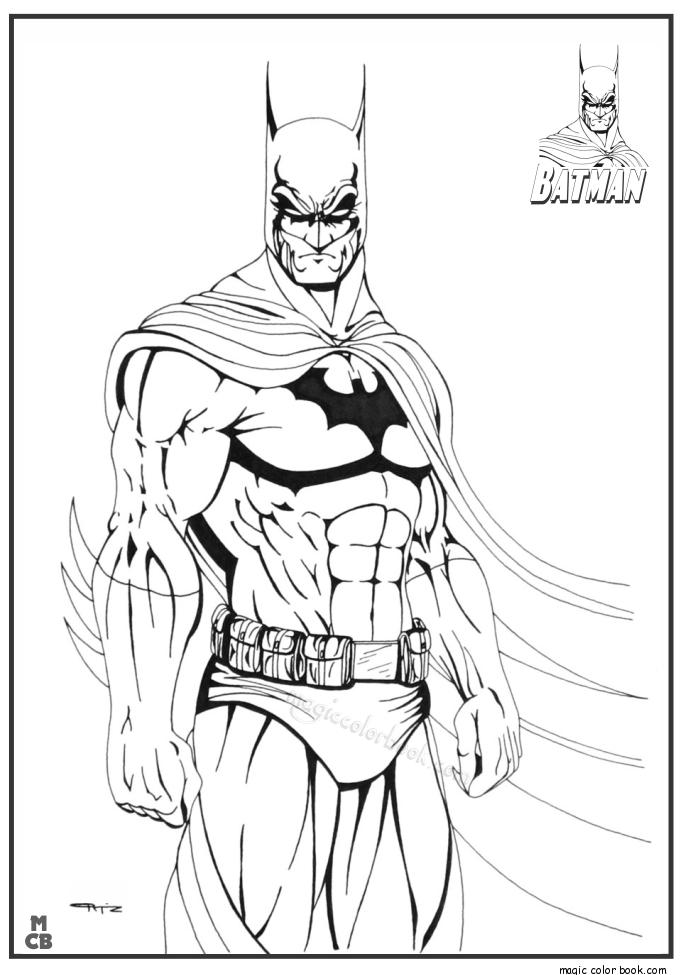 Pin de Magic Color Book en Batman Coloring Pages | Pinterest