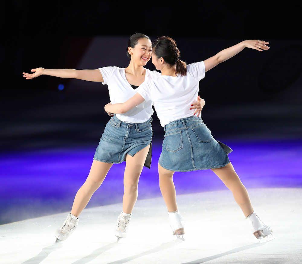 「THE ICE2017」で村上佳菜子さんとコラボする浅田真央さん Photo By スポニチ (1000×874) 「【写真特集】浅田真央さん 引退後初のショーで「感謝」の舞い」
