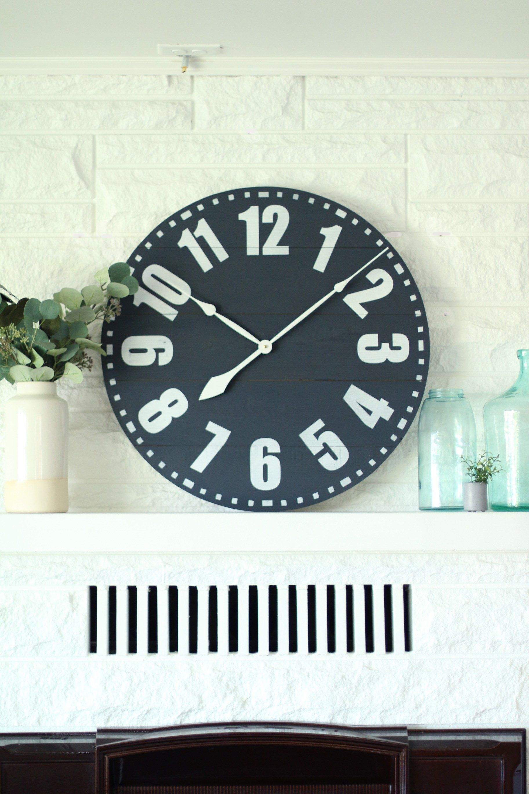 25 30 bentley in navy clock with numbers farmhouse wall decor