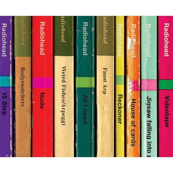 Radiohead \'In Rainbows\' Album As Books Poster Print, Music Poster ...