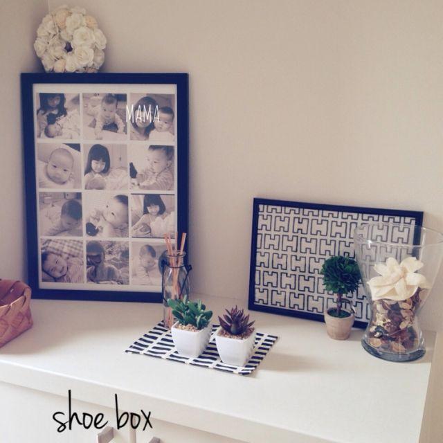 この画像は「玄関を華やかインテリア空間に♡靴箱の上だってこだわり