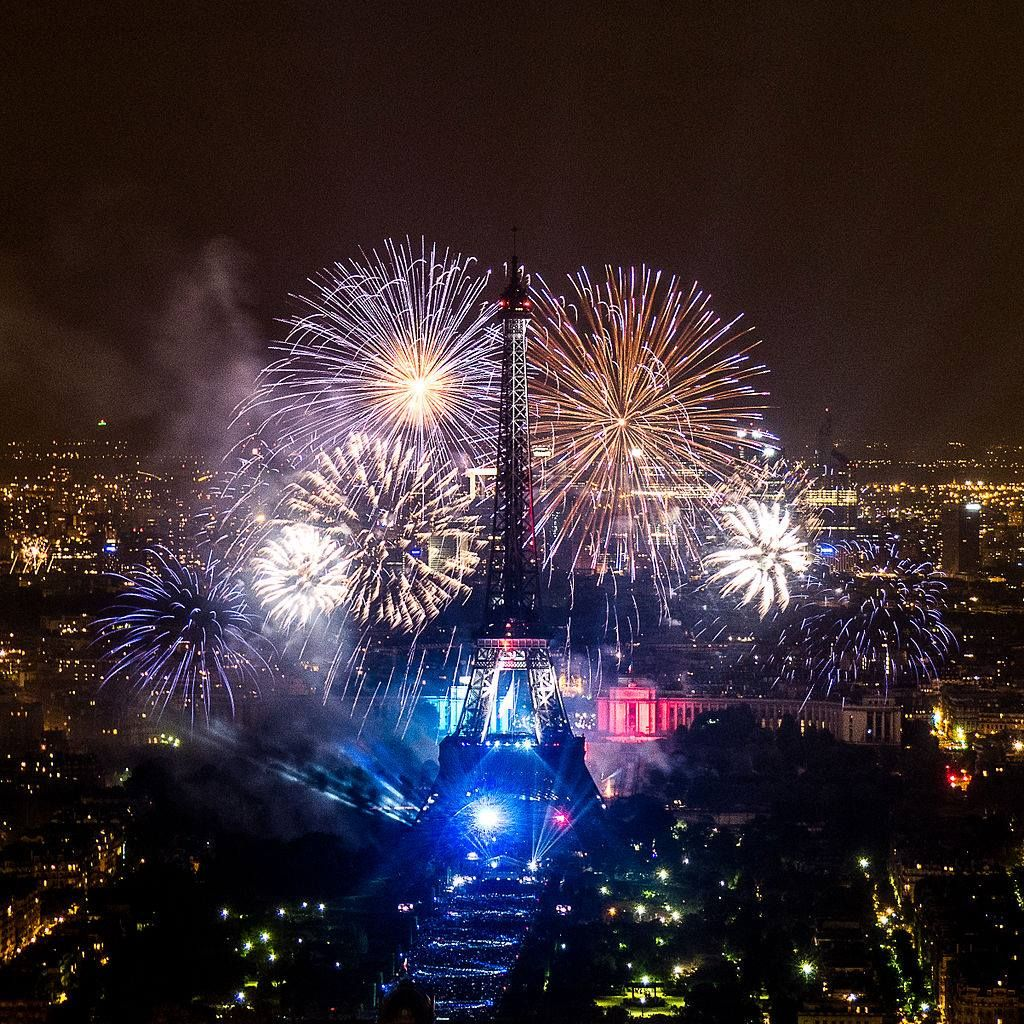 eiffel tower fireworks | the beauty of travel | pinterest | tower