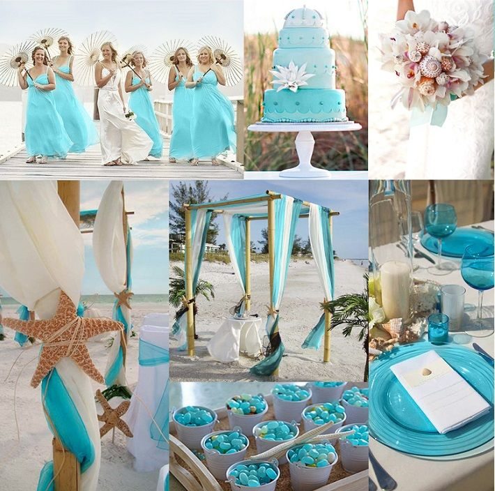 Beach Wedding Decorations Ideas: Turquoise Color Wedding Theme Ideas : Advices For Outdoor