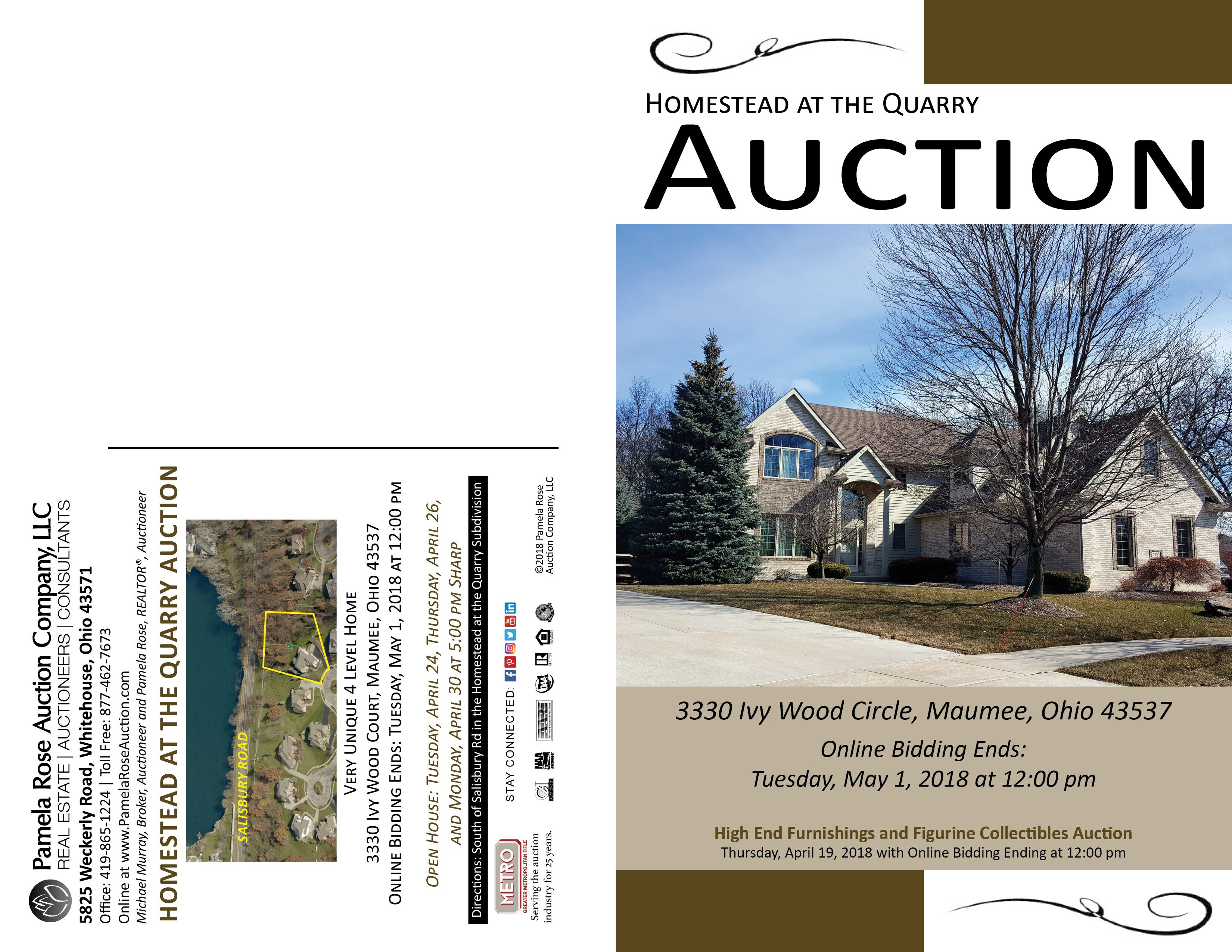 Dream Home Auction In The Homestead At The Quarry Online Only 3330 Ivy Wood Court Maumee Ohio 43537 With Biddin Real Estate Auction Estate Auction Auction