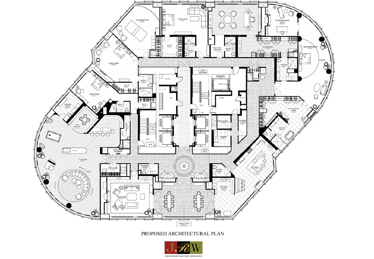 Penthouse floor plans trump floor plan 89th floor living for Apartment plans for sale
