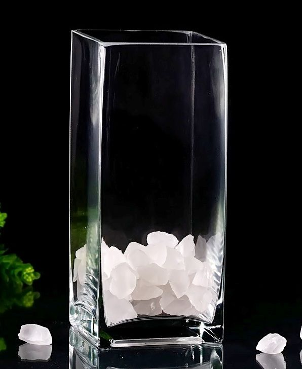 9 Tall Square Vases With Clear Glass Centerpieces Glassvases
