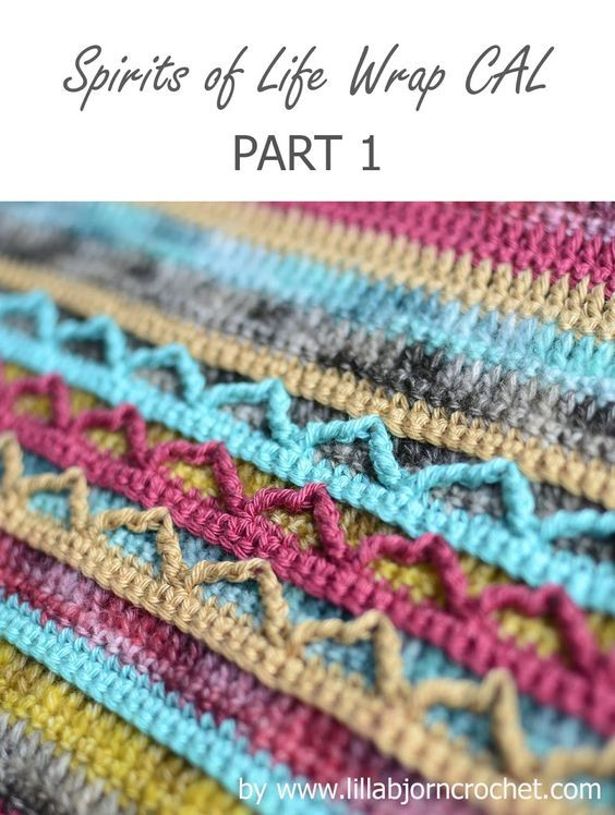 Spirits of Life Wrap CAL: Part 1 | crochet | Pinterest | Häkeln ...