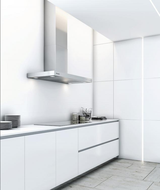 Tendencias Las Cocinas Blancas Con Electrodomesticos Inox Como Nuestra Campana P 803 Aportaran Lumi Diseno De Banos Chicos Diseno De Banos Cocinas Blancas