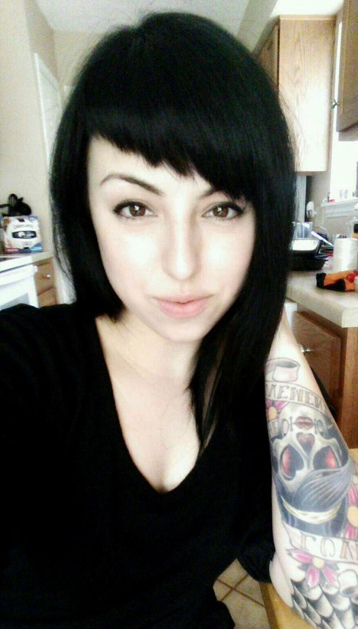 Edgy Long Hairstyles Intresting Bang Cut Bangs Pinterest