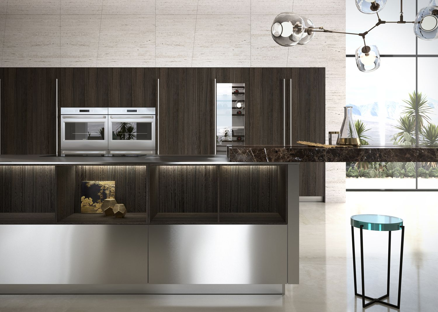 Simple Geometries And The Careful Placement Of Light Set The Stage For The Beautiful Dialogue Be Modern Kitchen Design Kitchen Trends Luxury Kitchen Design