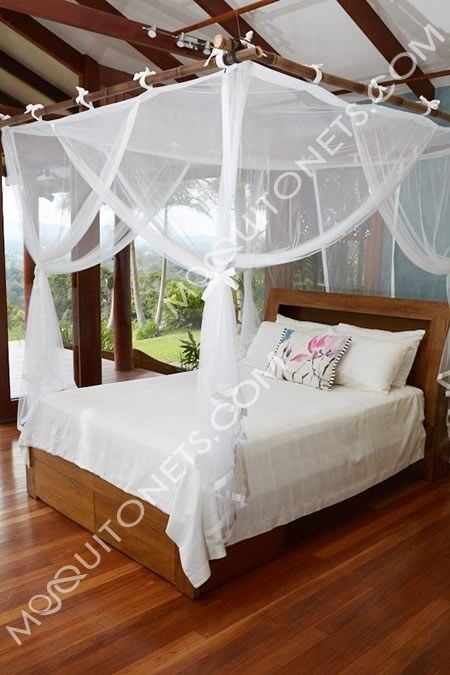 Mosquito Net Box Queen Size Deluxe Canopy Bed Curtains Bed Canopy Bedroom