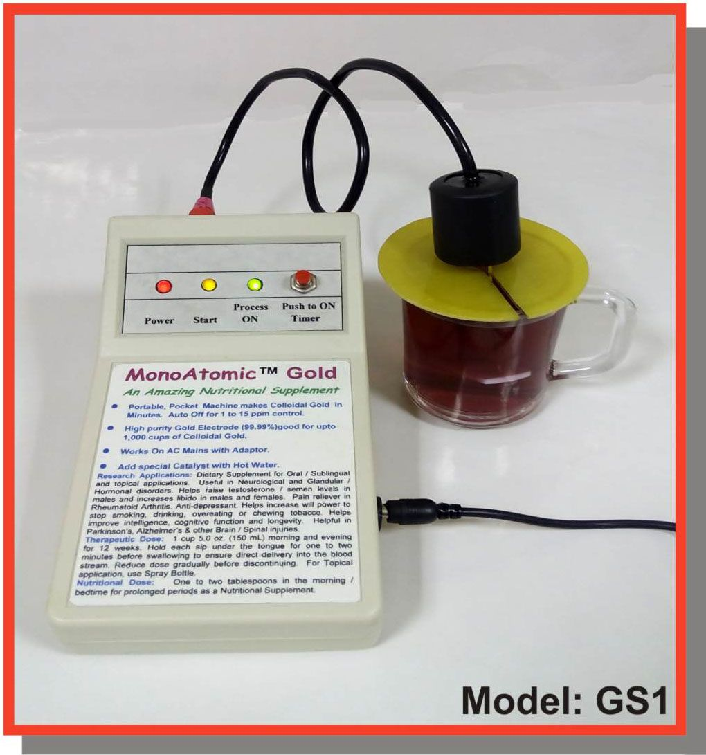 Colloidal Gold Generator Model Gs1 Monoatomic Gold