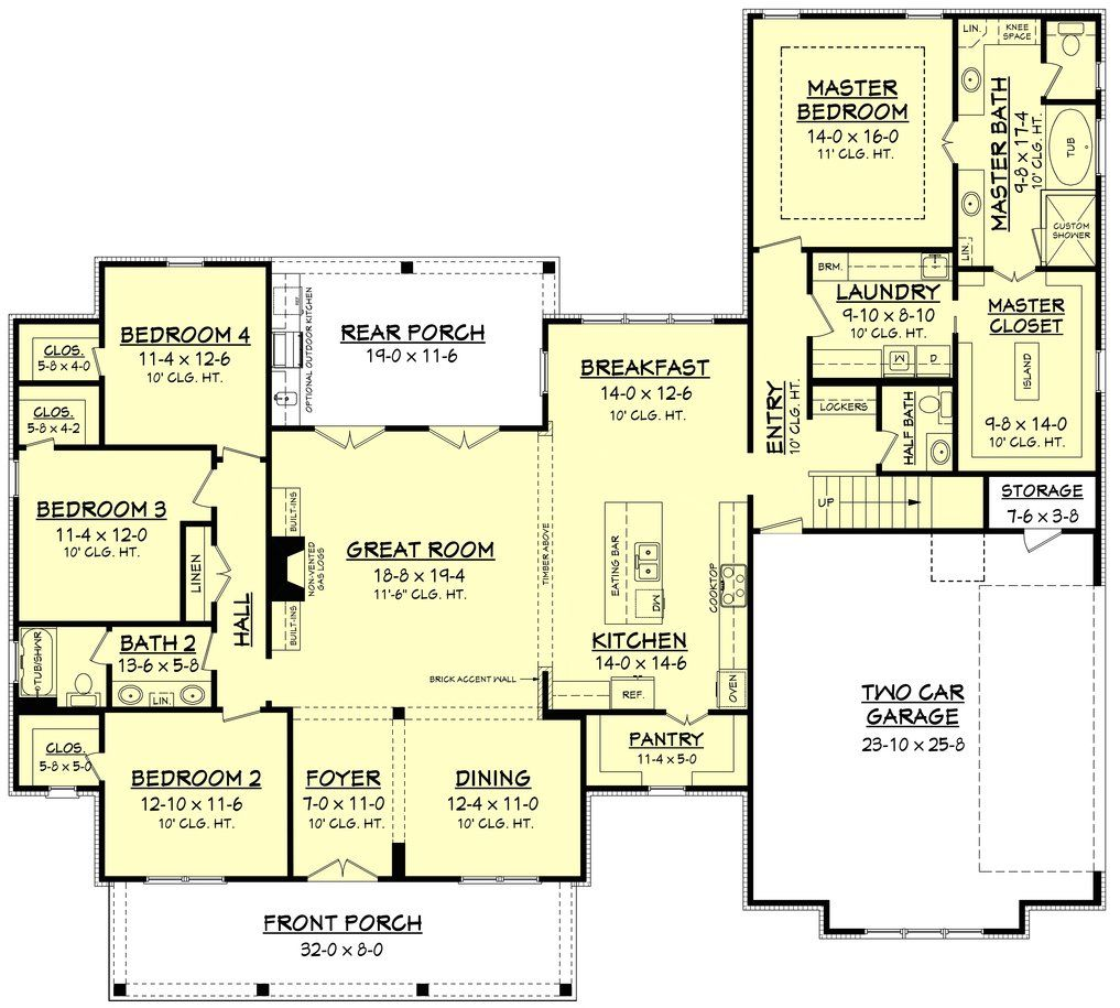Image Result For Open Concept Floor Plan 2000 Sq Ft Farmhouse Floor Plans Farmhouse Style House Plans House Plans Farmhouse