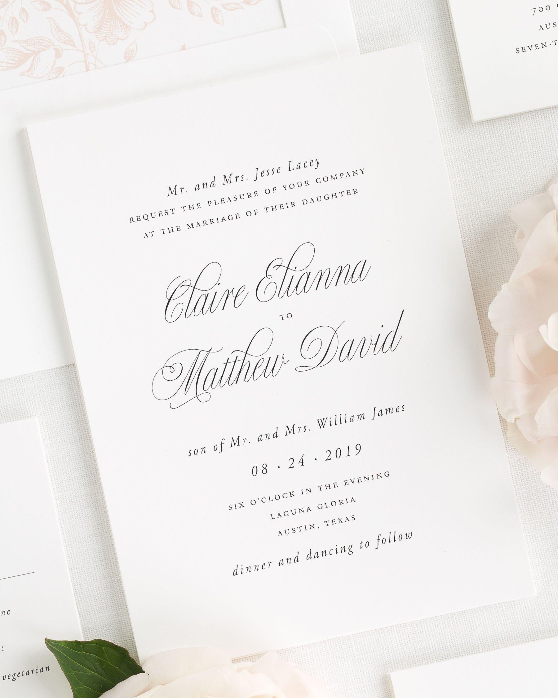 Garden Elegance Wedding Invitations Wedding Invitation Samples Letterpress Wedding Invitations Shine Wedding Invitations