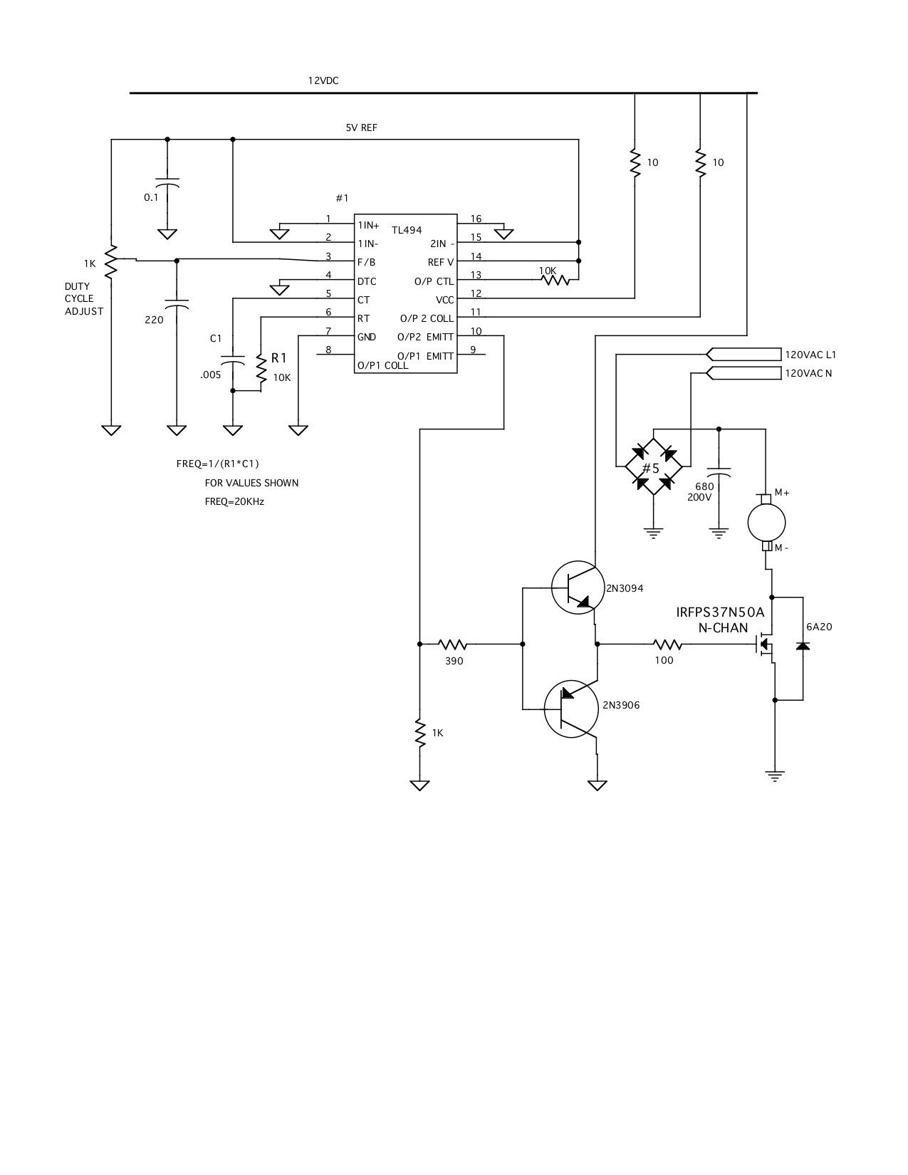 Pwm Circuit For Dc Motors Such As Treadmill Values Are Not New To Electronics 12vdc Supply From 120vac How Does It Work Critical Much