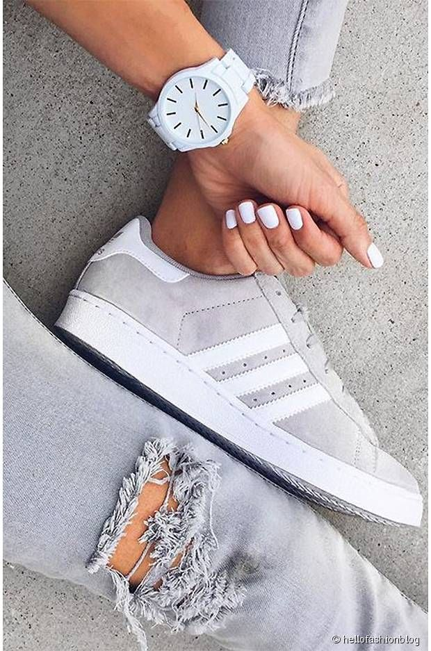watch b8a53 851bf Adidas Gazelles sneakers watch Grey