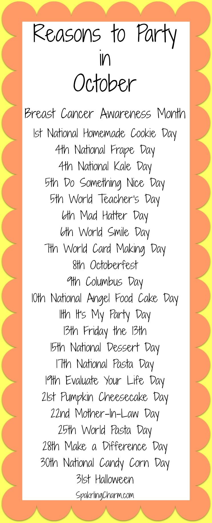 Reasons to Party in October! You are cordially invited to join me ...