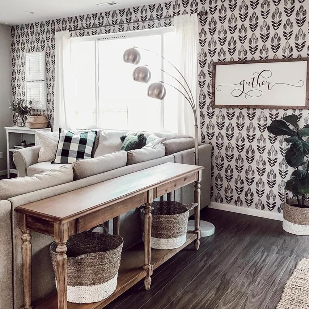 Beacon House Scandinavian Black Block Print Tulip Strippable Roll Wallpaper Covers 56 Sq Ft 2535 20651 The Home Depot In 2020 Living Room Designs House Interior Peel And Stick Wallpaper