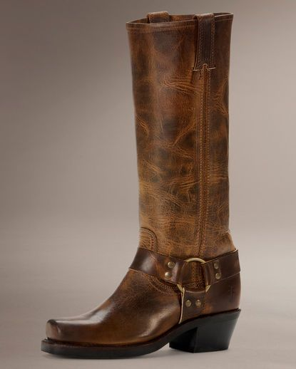 Frye Women's Old Town Harness Boot - Dark Brown 300