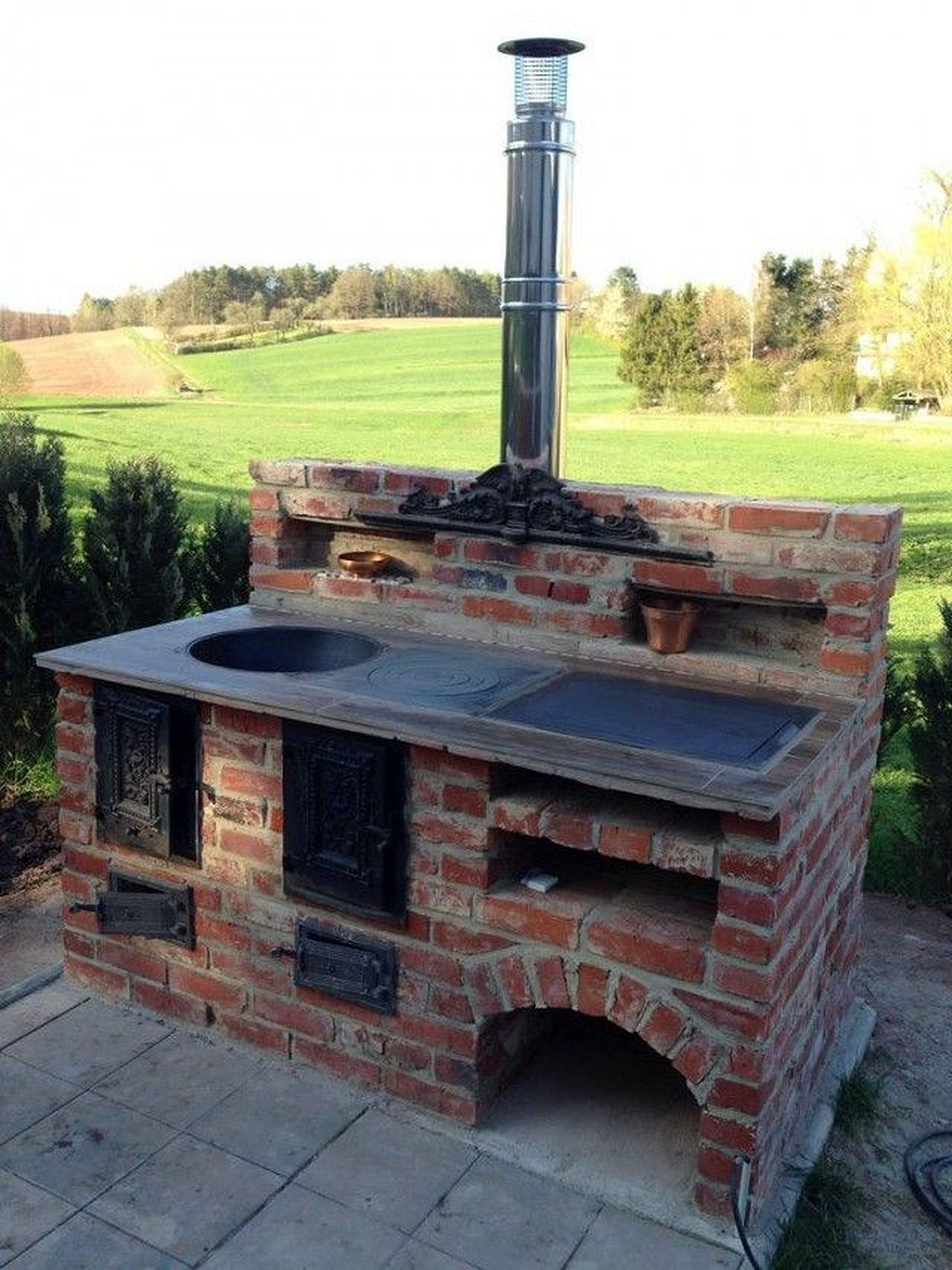 How To Make Yourself Backyard Brick Grill In 2020