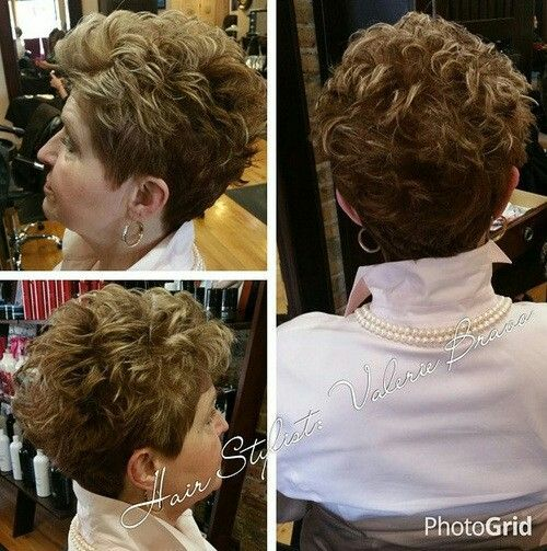 Short curly hair for older women | haircut | Short Curly ...
