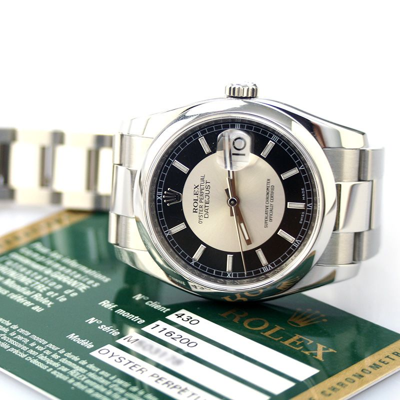 Rolex Oyster Perpetual DateJust Model 116200, Size 36 mm