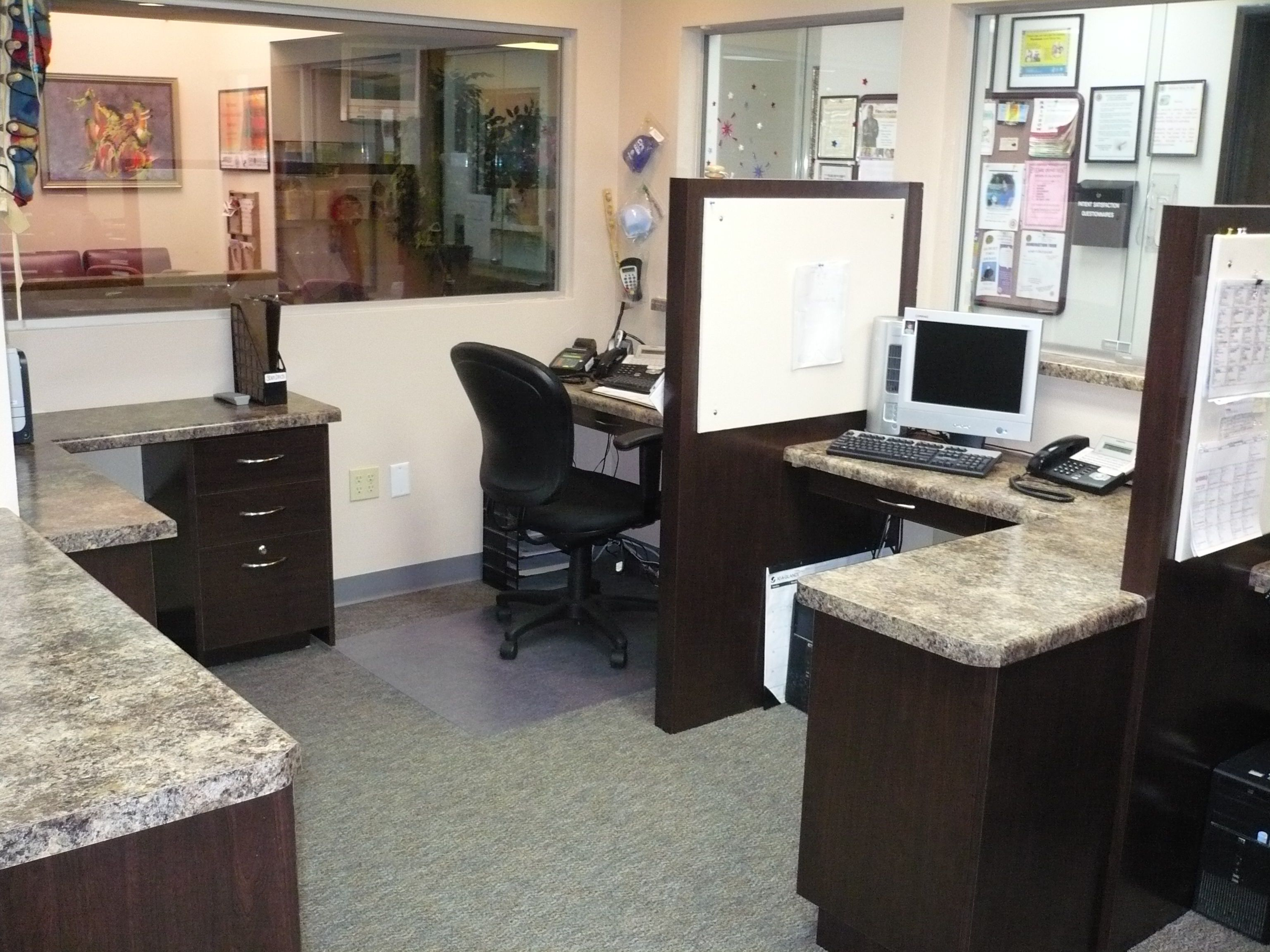Laminate cabinetry and countertops in medical office San Bernardino