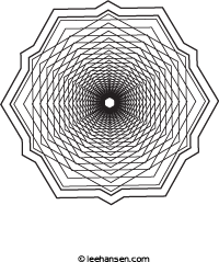 design coloring page dizzy maker hexagons