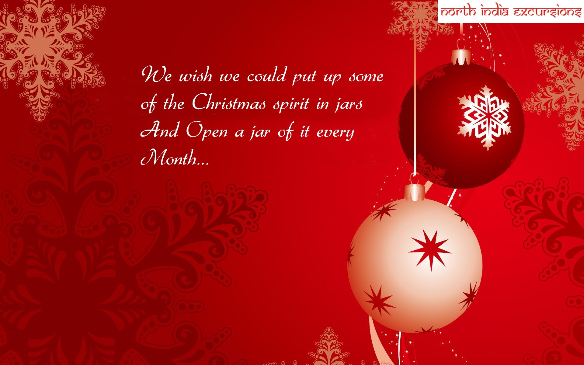 North India Excursions Sends Christmas Greeting To All Merry
