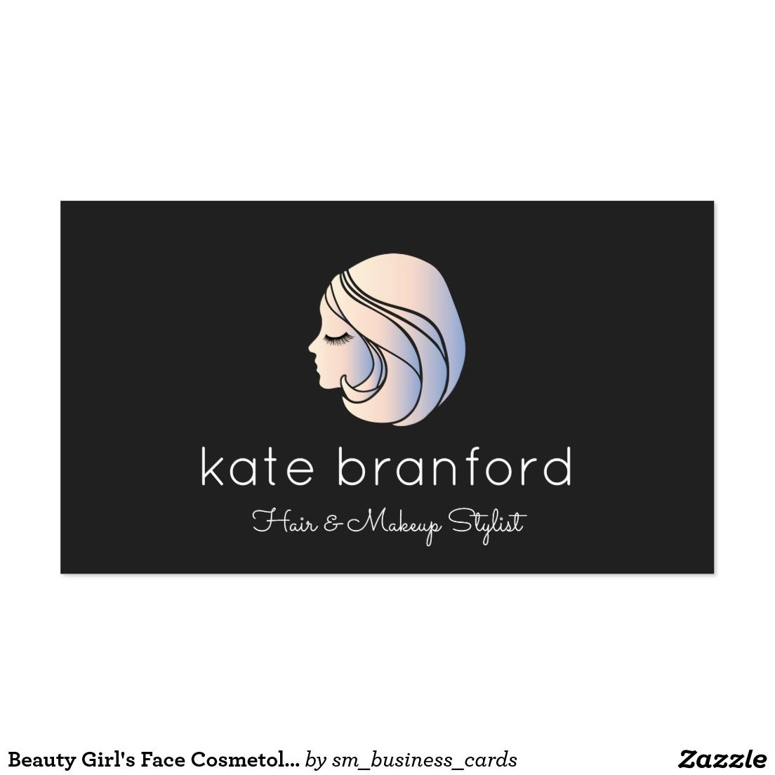 Beauty Girl\'s Face Cosmetologist Business Card   Fashion and ...