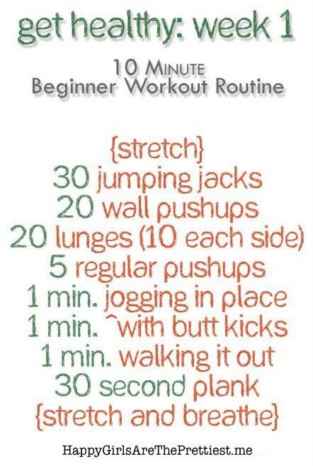 Beginner at home workout happygirlsaretheprettiest fitness pinterest exercises