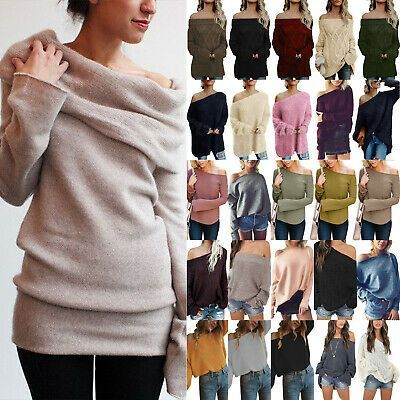 (eBay Ad) Women Off Shoulder Chunky Knitted Jumper Ladies Long Sleeve Baggy Swea...   - Sweaters, Mixed Items, Lots and Maternity. Women's Clothing - #baggy #Chunky #Clothing #eBay #Items #jumper #Knitted #Ladies #Long #Lots #Maternity #Mixed #Shoulder #Sleeve #Swea #Sweaters #Women #Womens #chunkyknitjumper