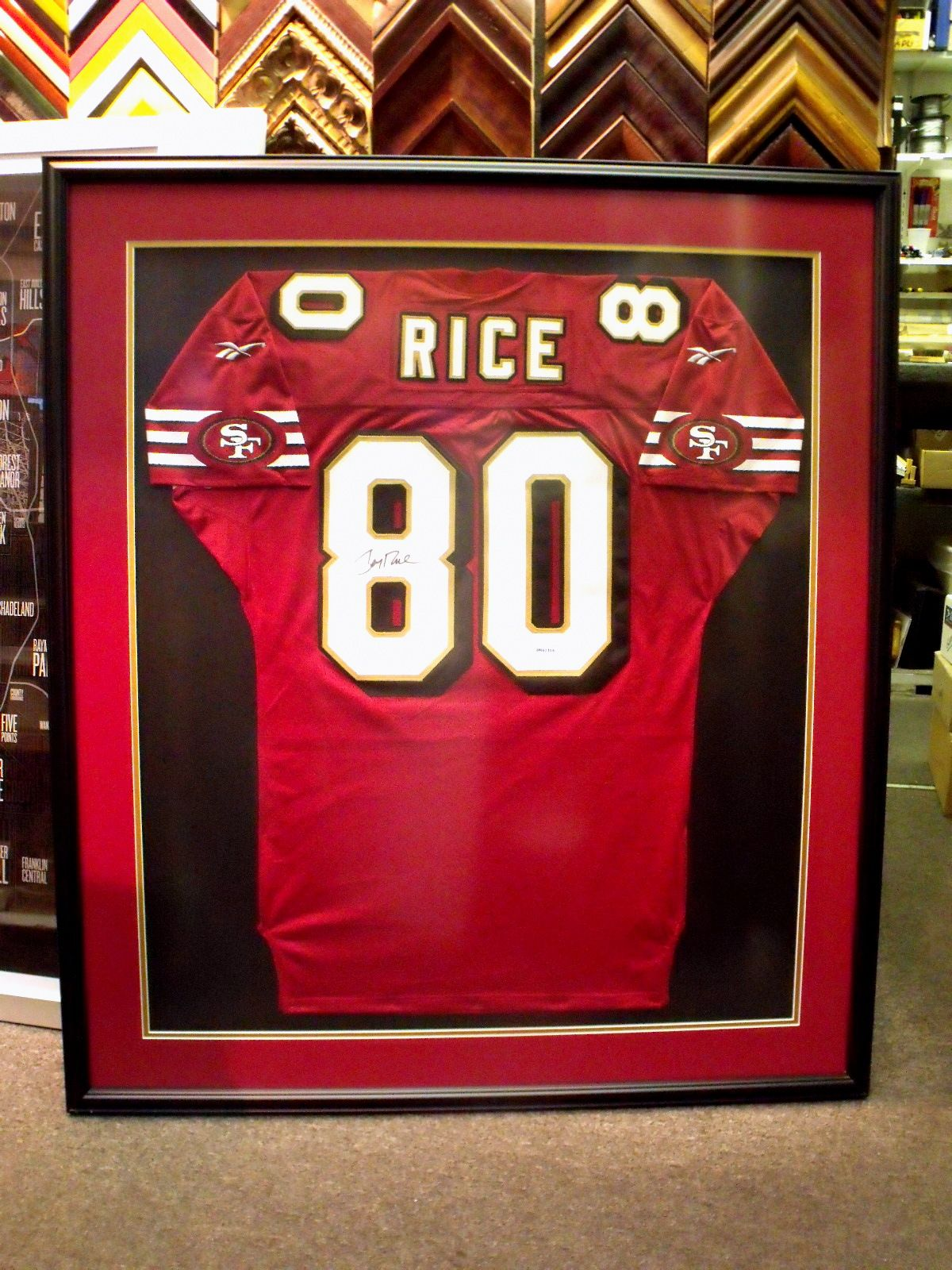 jerry rice jersey framing | 49ers | pinterest | framed jersey