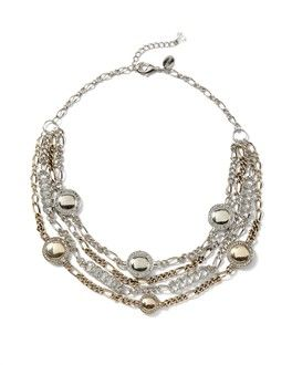Pave Multi-Row Necklace ~ New Arrivals In Women's Jackets, Dresses, Skirts, Sweaters, Pants, Denim, Workwear, Separates, Accessories, Jewelry & Shoes - White House | Black Market