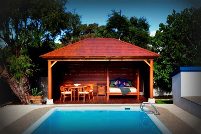 Swimming Pool Cabana Ideas pergola over the pool a wonderful choice outdoor pergolametal pergolagazebo ideaspool cabanapool Pool Cabanas Luxury Perth Poolside Cabana