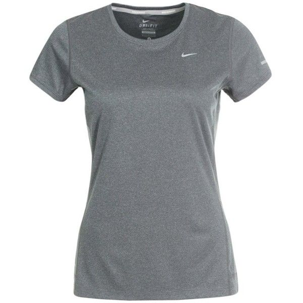 Nike Performance MILER Sports shirt ($33) ❤ liked on Polyvore featuring activewear, grey, sport shirts, nike shirts, nike sportswear, dri fit shirts and gray shirt