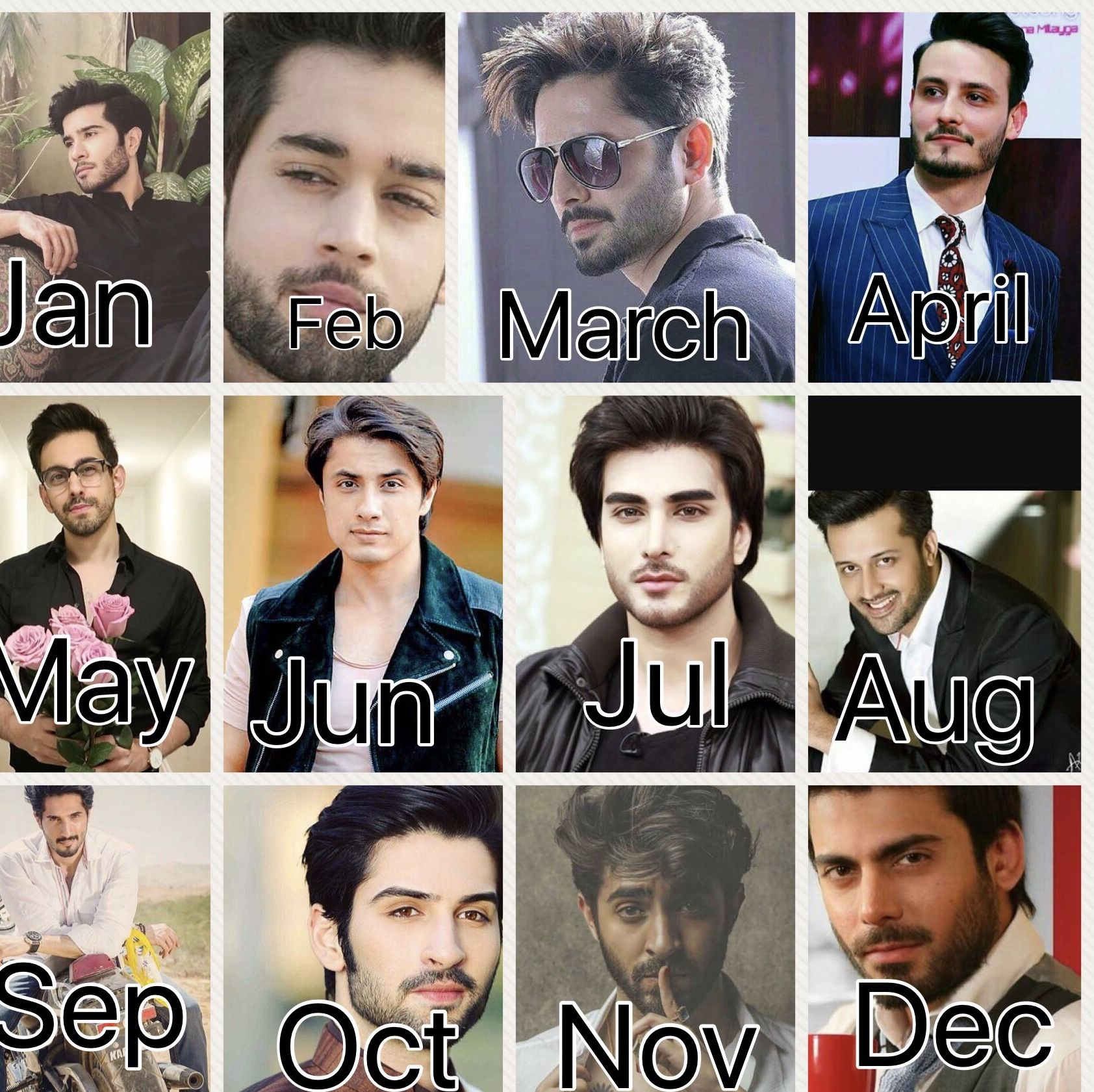 Tell us your Birthday Month! Pakistani Actors Bff