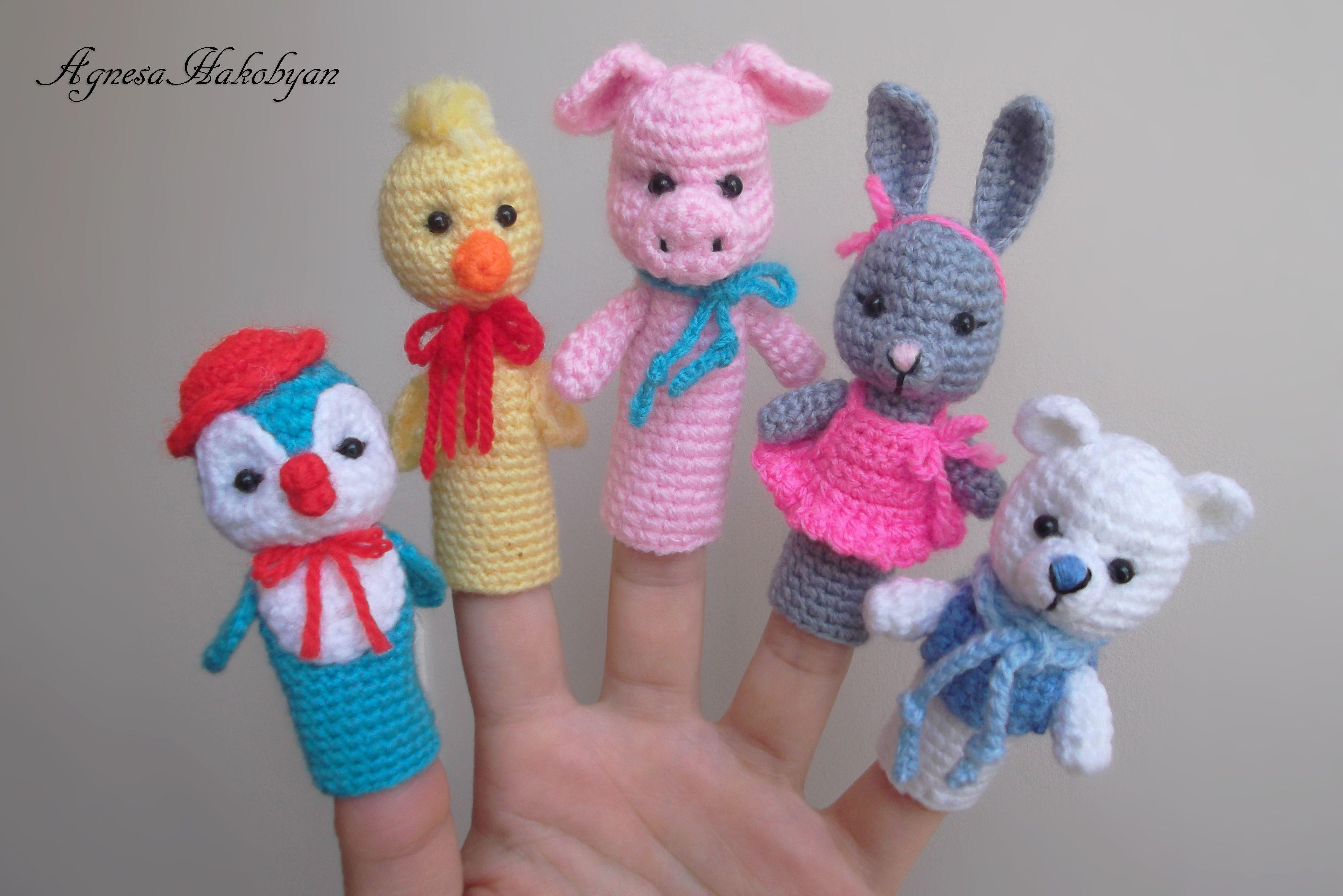 Crochet Finger Puppets | marionette | Pinterest | Marioneta, Tejido ...