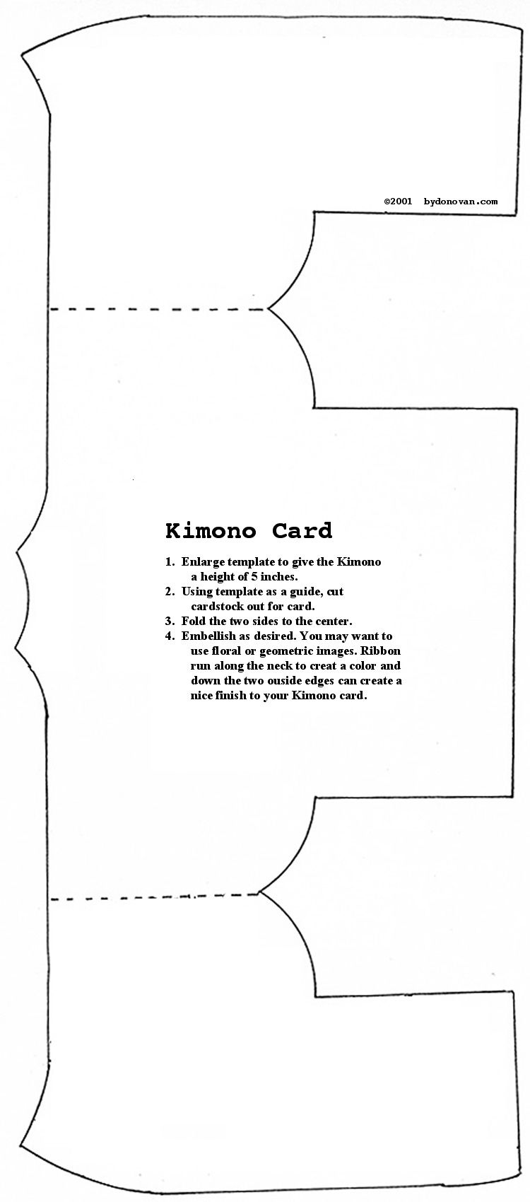 Kimono Card or Invitation Pattern   Sewing For Kids   Pinterest ...