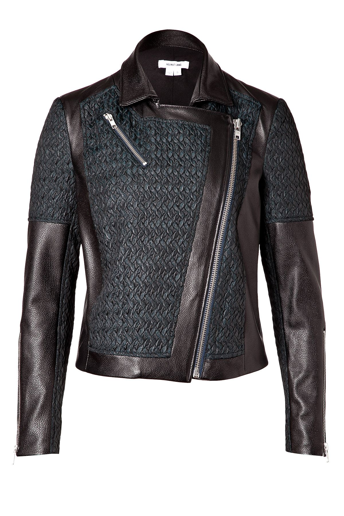 Leather Paneled Biker Jacket Jackets, Leather jackets