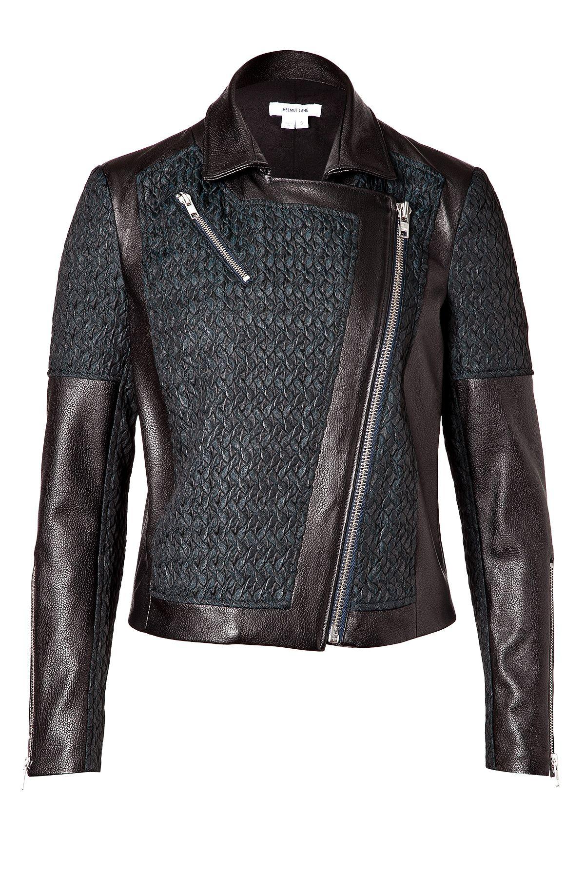 Leather Paneled Biker Jacket Jackets, Leather jackets