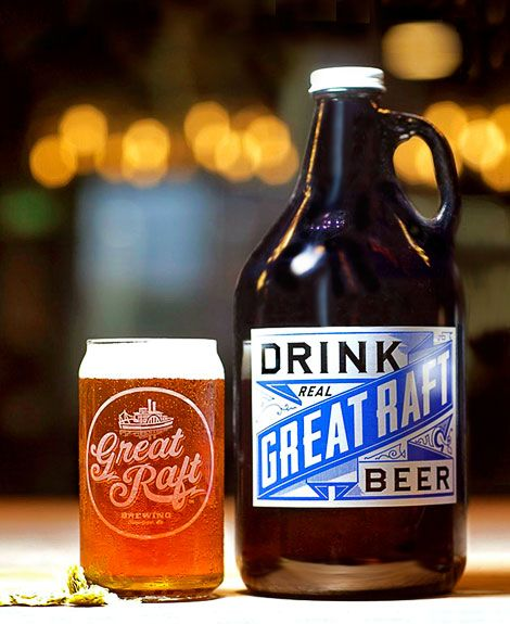Great Raft Brewing Oh Beautiful Beer Beer Bottle Design Beer Beer Packaging