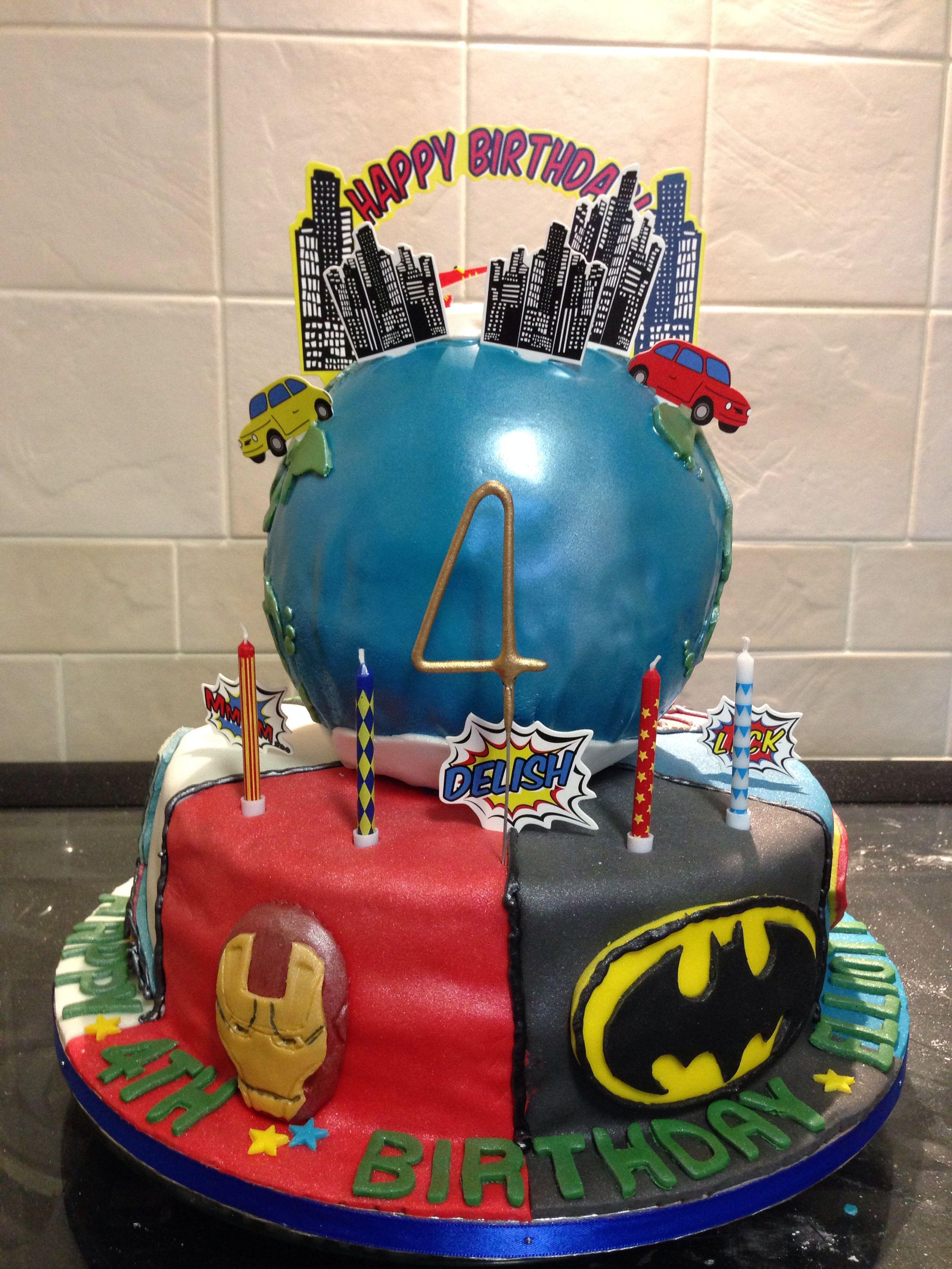 Batman, Superman, Spiderman, Iron Man, Hulk And Captain Planet Earth
