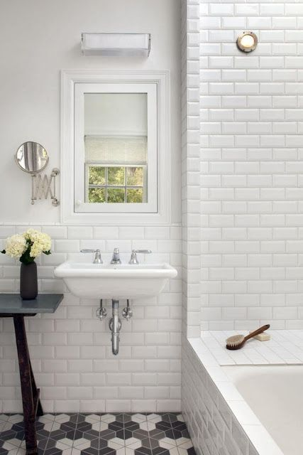 White Subway Tiles Bathroom Part 38