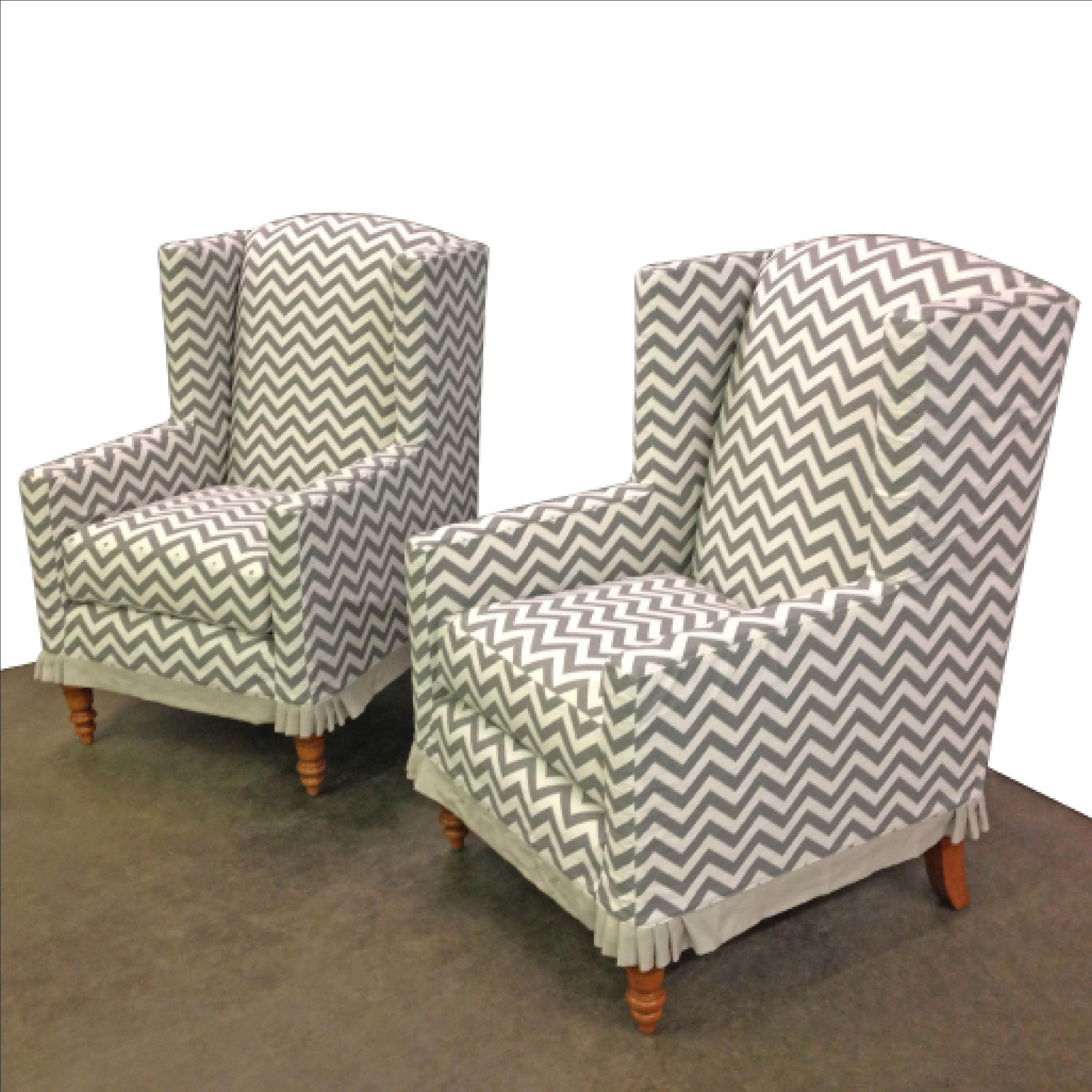 Chevron wing chairs - Modern Wingback Chairs We Love The Traditional Legs Paired With A Contemporary Chevron And How