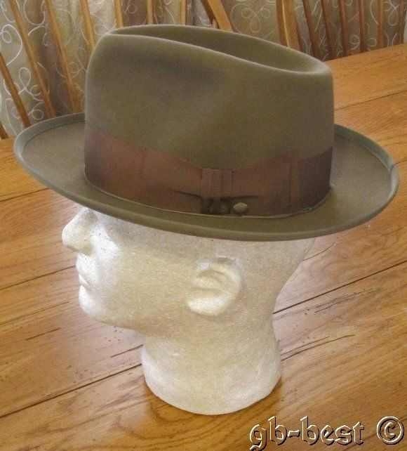 Vintage Executive Adam Fedora Hat Brown Size 7 Nice  a8db688dc04