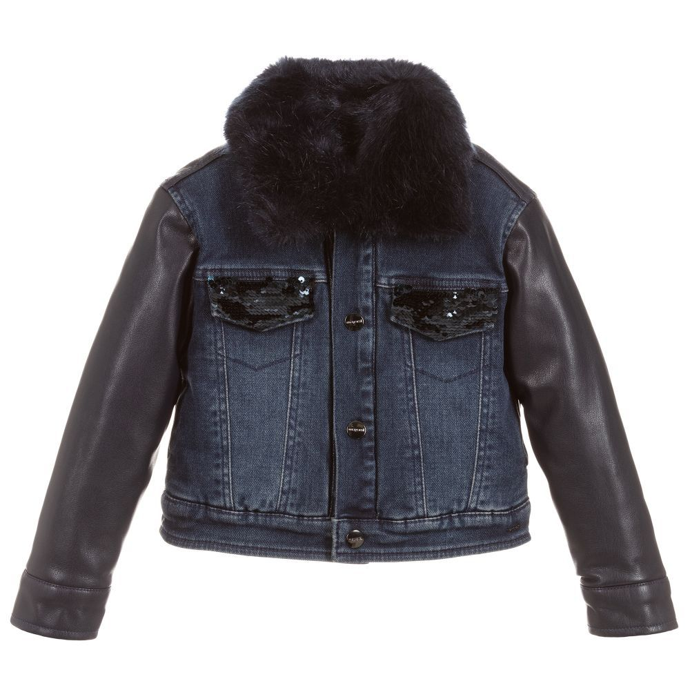 Denim & Faux Leather Jacket in 2020 Faux leather jackets