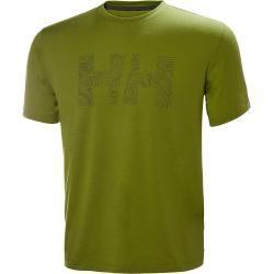 Helly Hansen Mens Skog Graphic Tshirt Midlayer Yellow Mhellyhansen.com #graphicprints